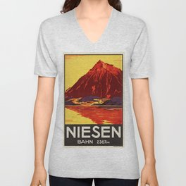 Vintage poster - Switzerland Unisex V-Neck