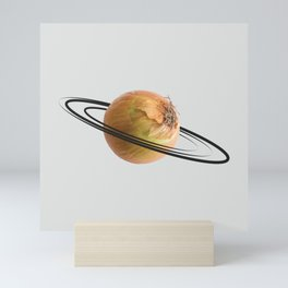 onion saturn Mini Art Print