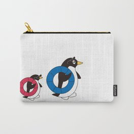 Parent-child penguin walking with the float Carry-All Pouch