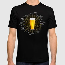"""""""Beer"""" in 45 different languages T-shirt"""