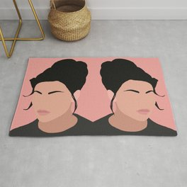 Sonja - a minimal portrait in pink Rug