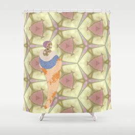 Mrs Edwardian and the Evolution of Fashion Shower Curtain