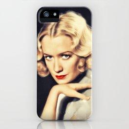 Miriam Hopkins, Vintage Actress iPhone Case