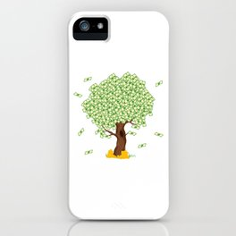 """Cute and inspiring best for luck """"Money Growing"""" tee design. Makes an awesome gift to your friends!  iPhone Case"""