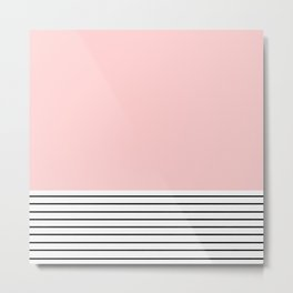 Pink n Stripes  Metal Print