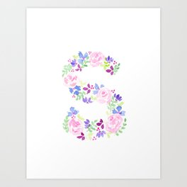 S-ay It Isn't So - Letter S purples Art Print