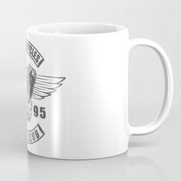 Vintage motorcycle club emblem in design fashion modern monochrome style illustration Coffee Mug