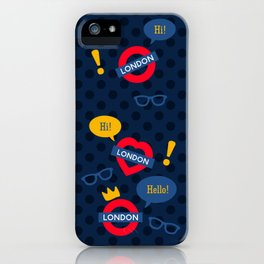 Crazy London Pattern iPhone Case