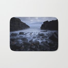 Mist, Rocks and Pebble Beach Bath Mat