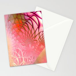Web of the Universe (coral and magenta) Stationery Cards