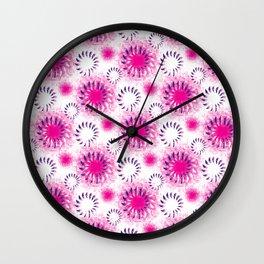 Fuchsia Twist Wall Clock