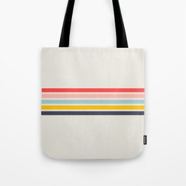 Naomori - Classic Minimal Retro Stripes Tote Bag
