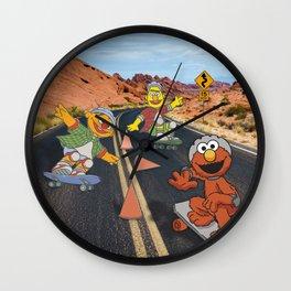 Sesame Skate Wall Clock