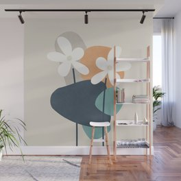 Abstract Flowers 3 Wall Mural