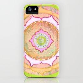 Pink Lotus Mandala iPhone Case