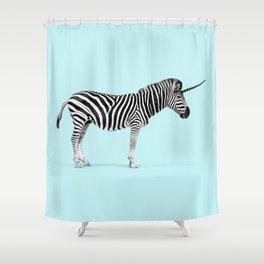 Unicorn Zebra Shower Curtain