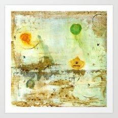 Drifting, Abstract Landscape Art Painting Art Print