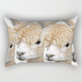 Alpaca Line Up Rectangular Pillow