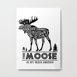 Spirit Animals: The Moose Metal Print