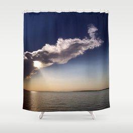 Lake Sakakawea Cloud Wind Shower Curtain