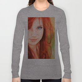 Redhead Girl Long Sleeve T-shirt