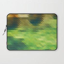 Green yellow triangle pattern, lake Laptop Sleeve