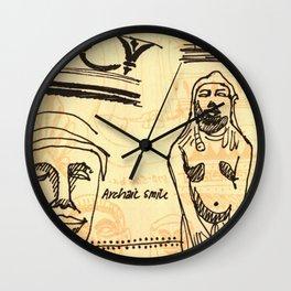 Archaic Smile Wall Clock