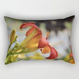 Fire in Bloom Rectangular Pillow