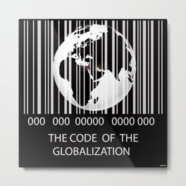 The code of the globalization  Metal Print