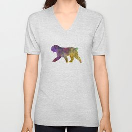 Spanish Water Dog in watercolor Unisex V-Neck