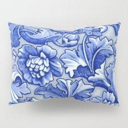 Blue and White Porcelain Pillow Sham