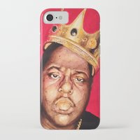 biggie smalls iPhone & iPod Cases featuring Biggie Smalls by Danielle Mariah