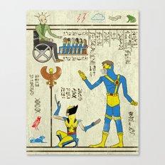 hero-glyphics: X Canvas Print