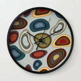 Canyon Agates Wall Clock