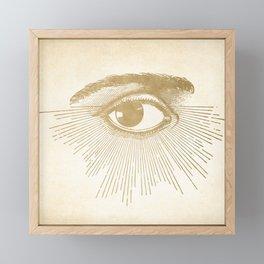 I See You. Vintage Gold Antique Paper Framed Mini Art Print