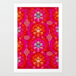Variations on A Feather IV - Stars Aligned (Firebird Edition) Art Print