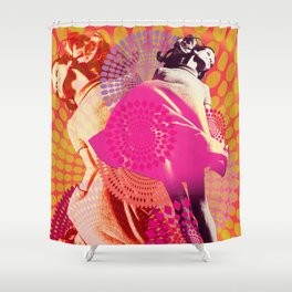 Supermodel Veruschka 1 - Supermodels of the Sixties Series Shower Curtain