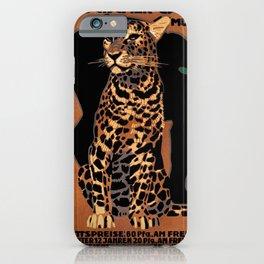 Vintage Munich Zoo Leopard 1912 Advertisement iPhone Case