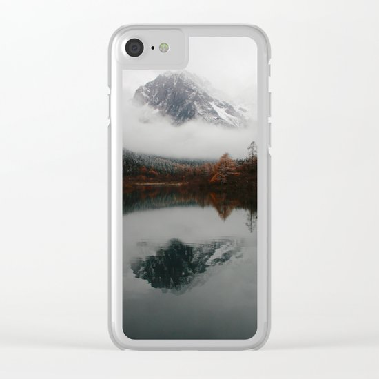 Beautiful Mountain # reflection Clear iPhone Case
