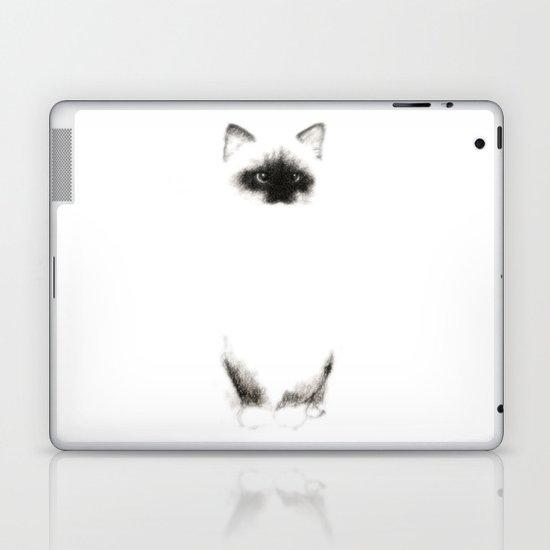 Angora Siamese Cat - Chat Siamois Angora Laptop & iPad Skin