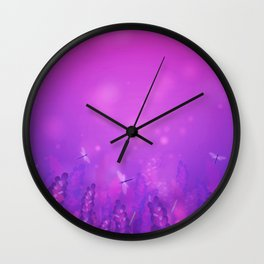 Whimsical Dragonflies Wall Clock