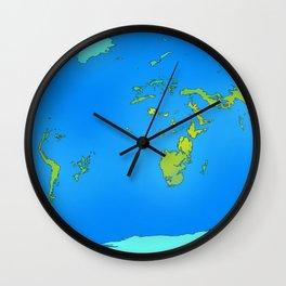 Map of Earth 2200 Wall Clock
