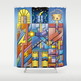 Keepers of the Cosmic Order Shower Curtain