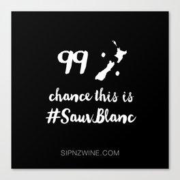 New Zealand #SauvBlanc Wine Lover Canvas Print