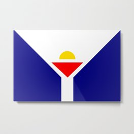 Saint Martin Flag Metal Print