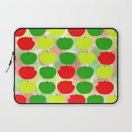 Summer Apple Picking Green, Red and Yellow Laptop Sleeve