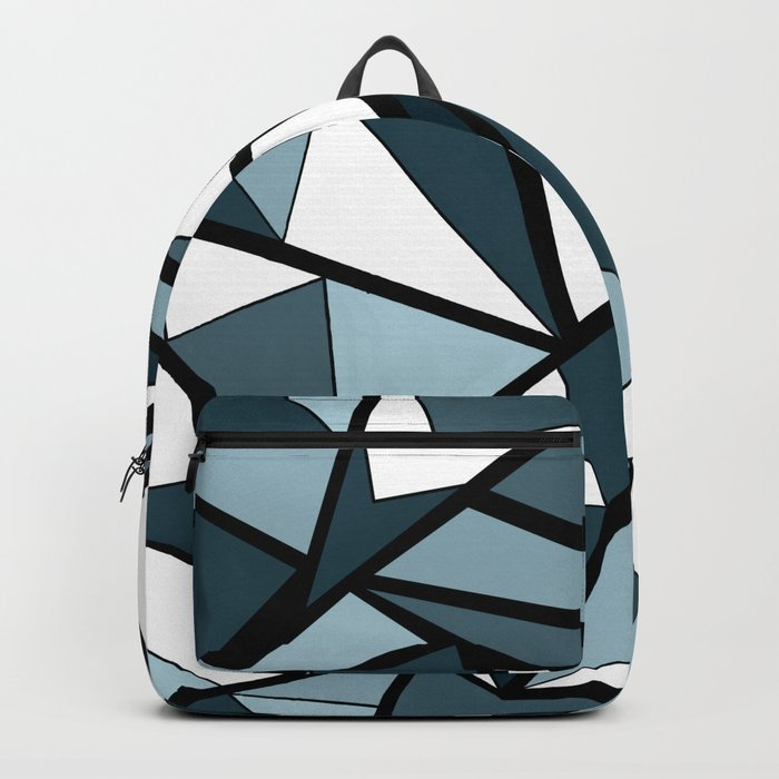 Geometric pattern in grey and white tones . Backpack