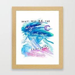 Don't Tell Me. Framed Art Print