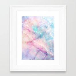 Iridescent marble Framed Art Print