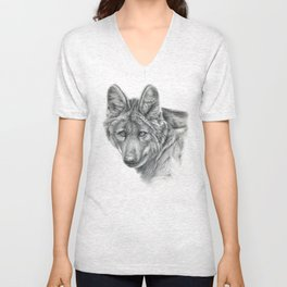 Maned Wolf G040 Unisex V-Neck